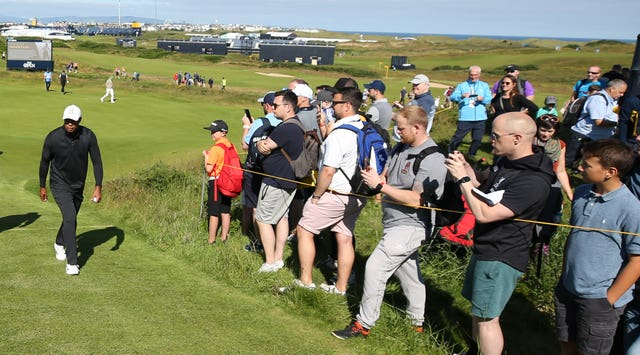 Woods pictured at Royal Portrush