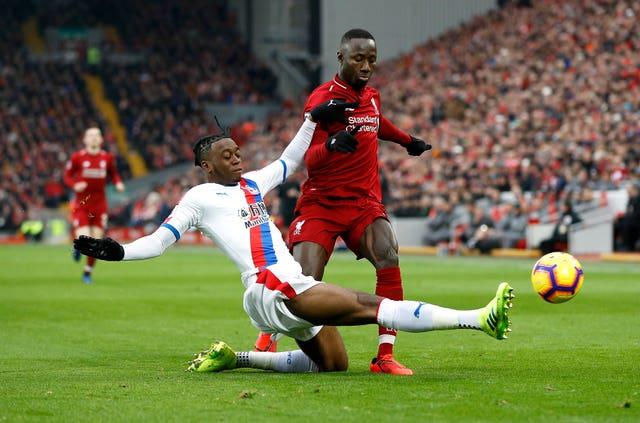 Aaron Wan-Bissaka, left, impressed for Crystal Palace last season