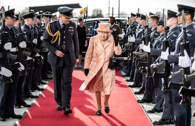 The Queen at RAF Marham