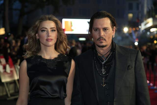 Amber Heard and Johnny Depp (Jonathan Brady/PA)