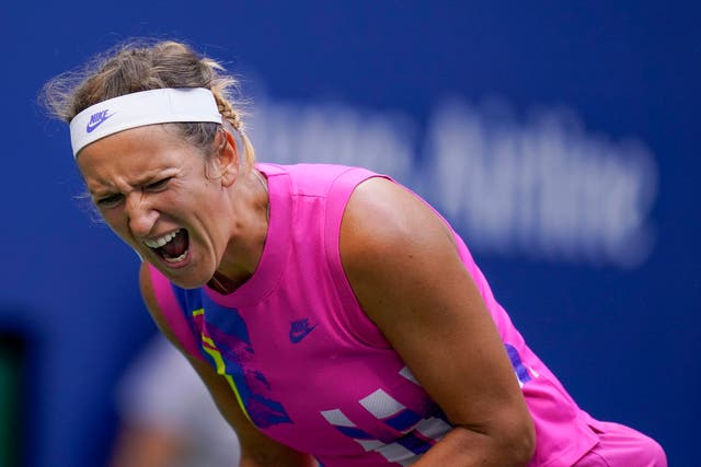 Victoria Azarenka shows her frustration as the US Open final slips away