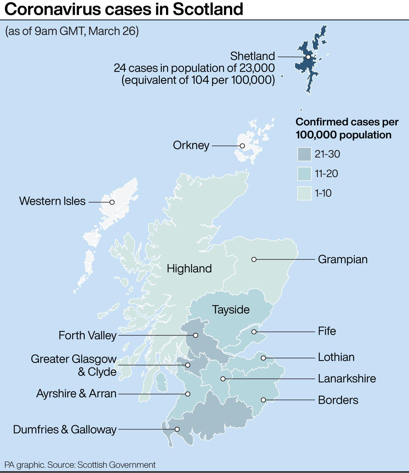 Three more Covid-19 deaths in Scotland