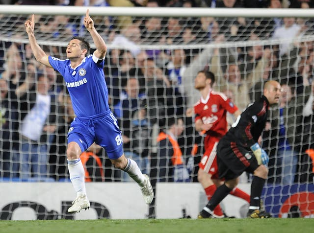 Lampard scored twice in the second leg as Chelsea beat Liverpool in the Champions League quarter-finals in 2009