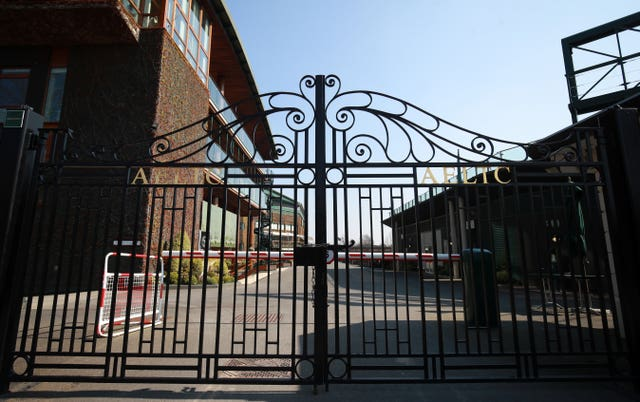 Locked gates at the All England Lawn Tennis Club