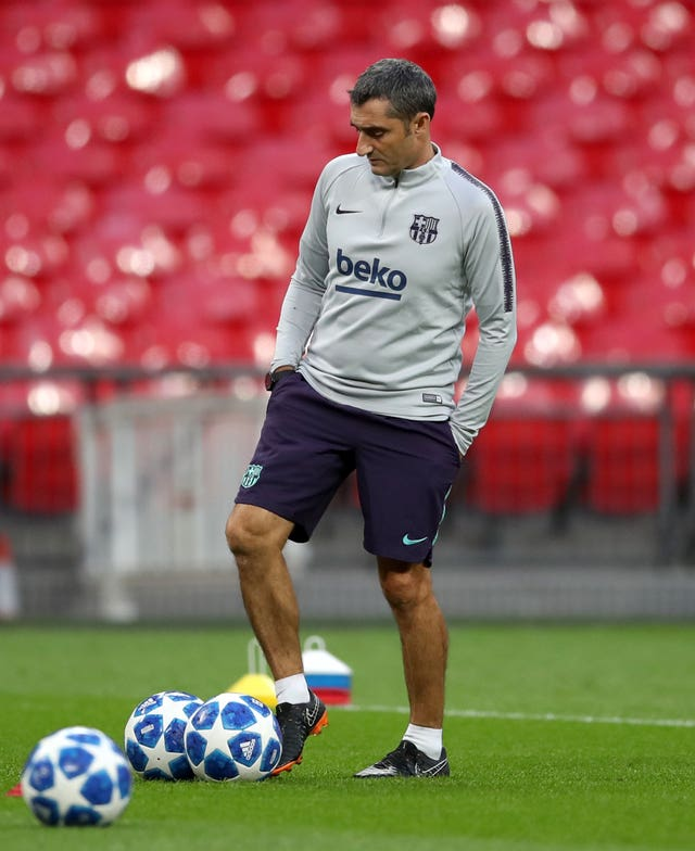 Barcelona manager Ernesto Valverde is concentrating on football and not his future