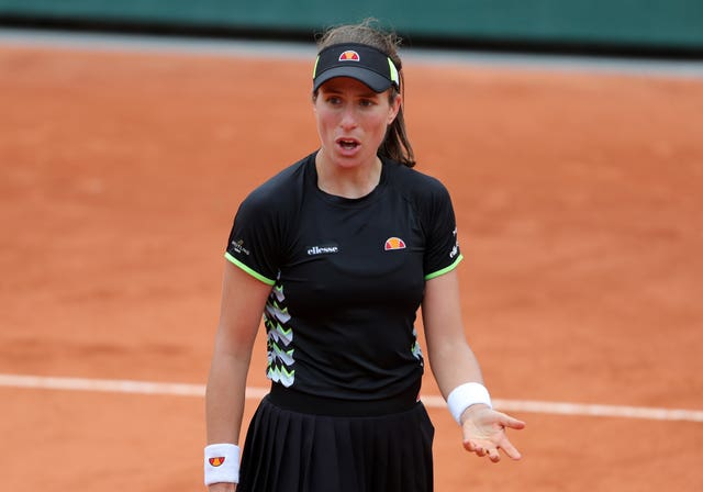 Johanna Konta struggled to hold herself together mentally in her French Open semi-final