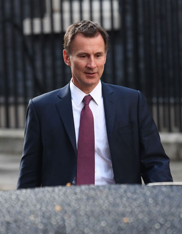 Foreign Secretary Jeremy Hunt