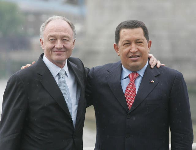 Then mayor of London Ken Livingstone meets then Venezuela pesident Hugo Chavez (Lindsey Parnaby/PA)