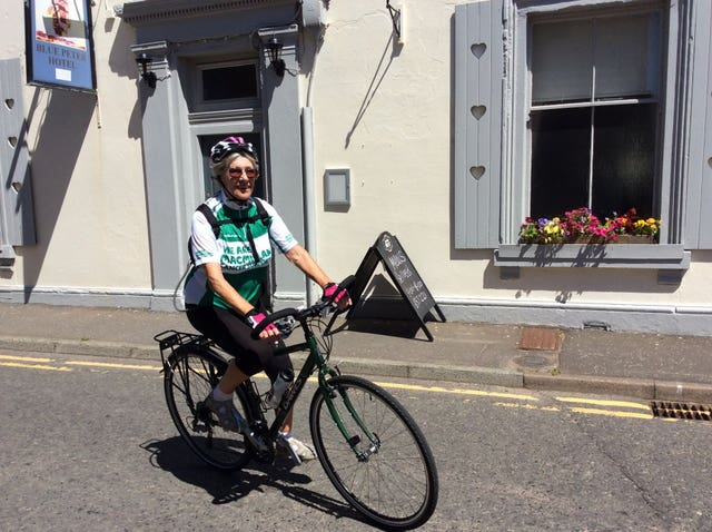 Undated handout photo issued by Macmillan Cancer Support of 82-year-old Mavis Paterson who is planning to cycle the 1,600-mile Wild Atlantic Way next year for a cancer charity