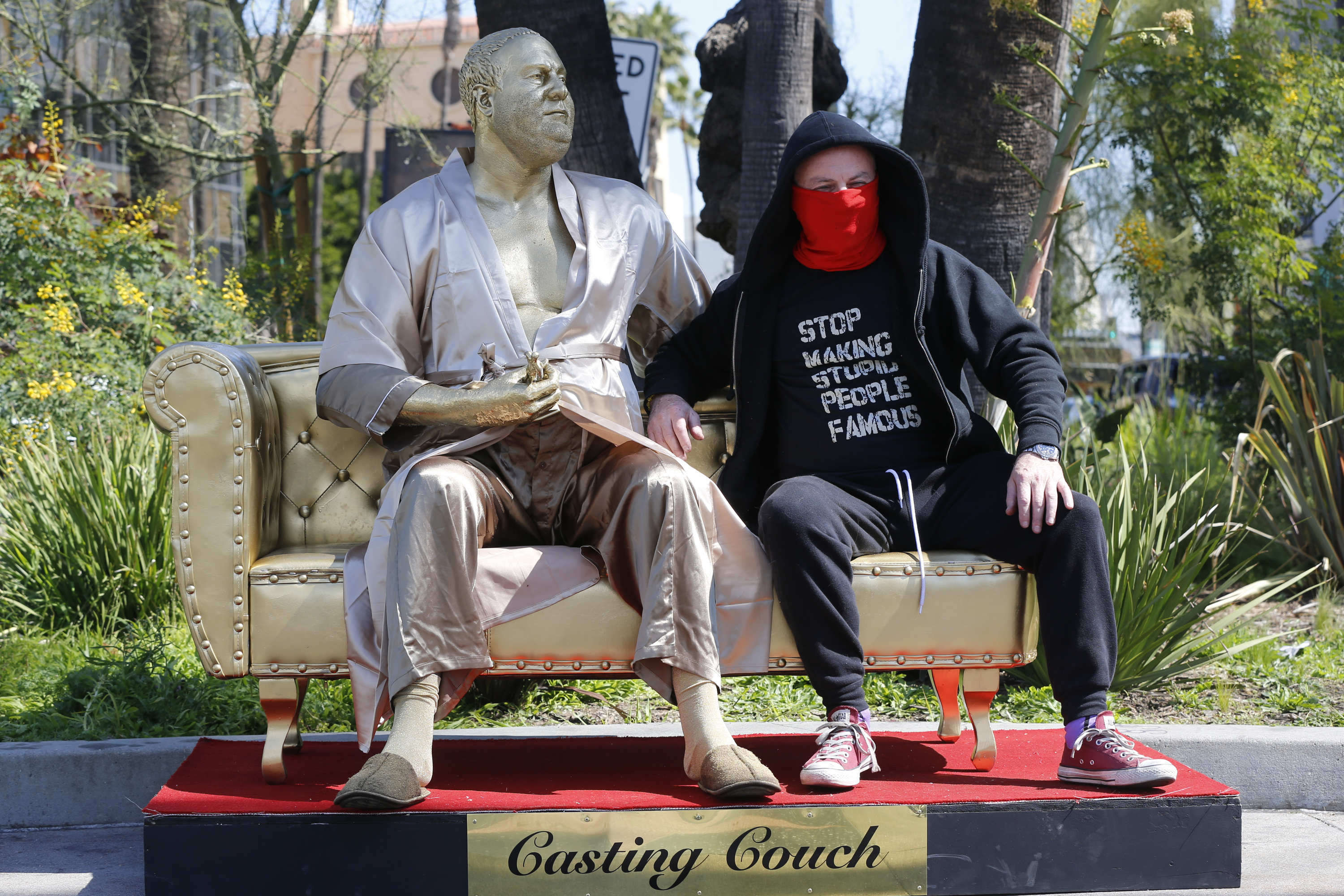 Harvey Weinstein Casting Couch Statue Erected Near Oscar Venue