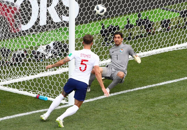 John Stones scores for England against Panama