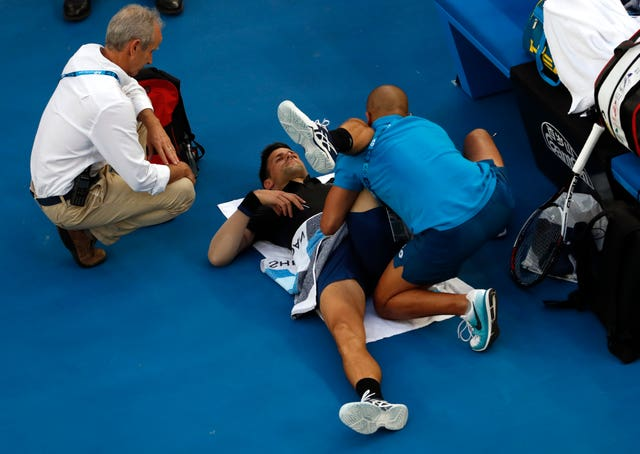 Novak Djokovic took a medical time-out during his victory over Albert Ramos-Vinolas