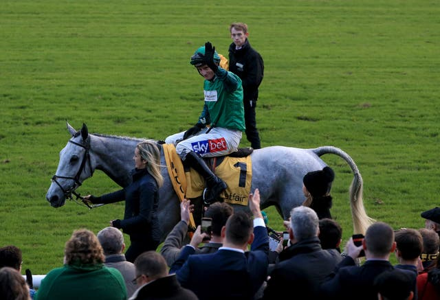 Daryl Jacob celebrates with Bristol De Mai after winning the Betfair Chase