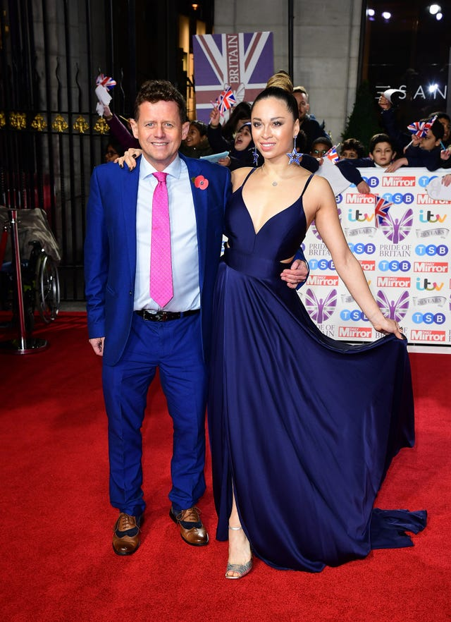 Mike Bushell and Katya Jones