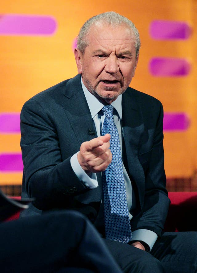 Lord Sugar on a TV show