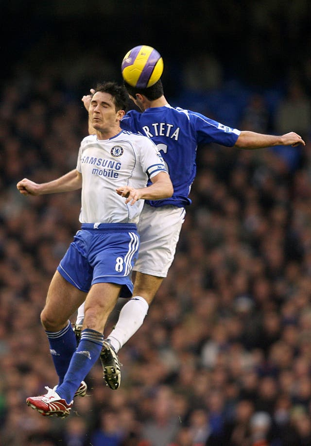 Frank Lampard (left) and Mikel Arteta