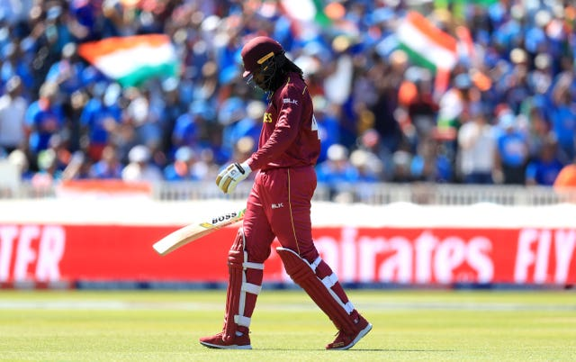 Gayle walks off for one last time