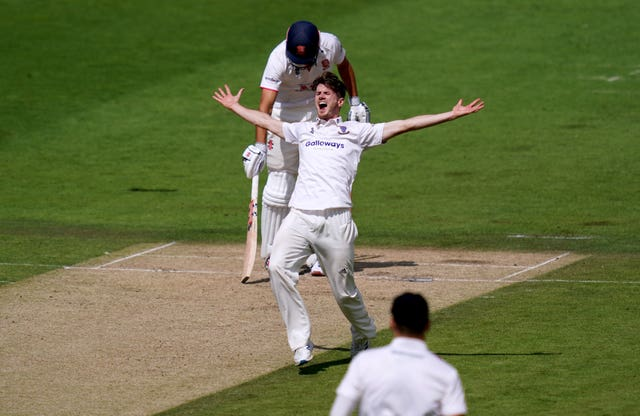 George Garton picked up a five-wicket haul for Sussex against County Championship holders Essex at Hove