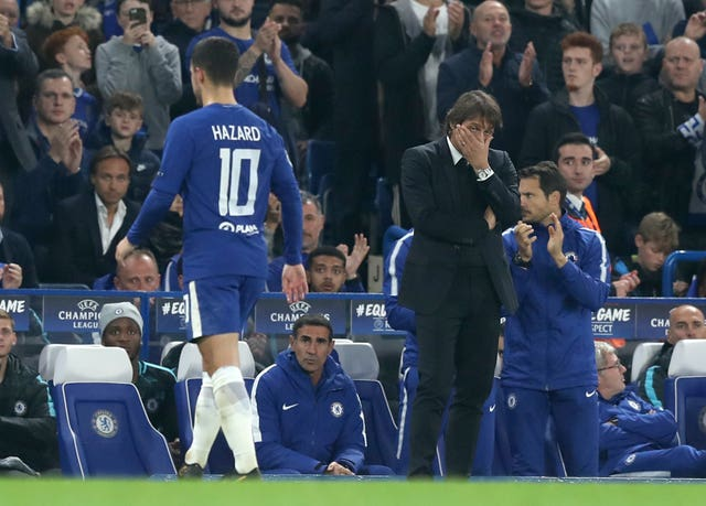 Eden Hazard and Antonio Conte's relationship at Chelsea appeared strained at times last season