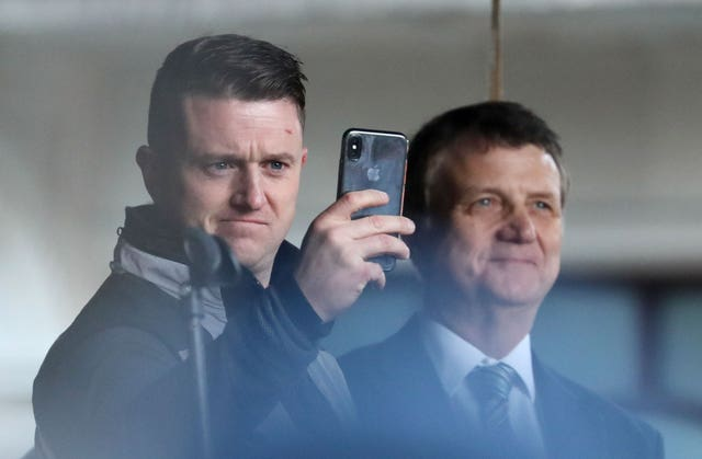Gerard Batten with Tommy Robinson