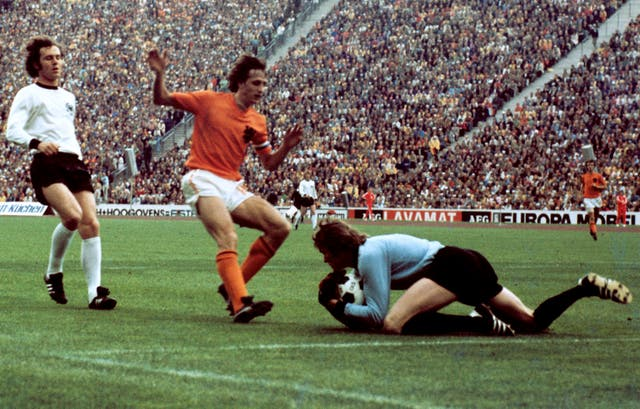 Johann Cruyff was Holland captain as they reached the 1974 World Cup final