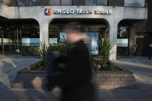 The Anglo-Irish bank HQ on St Stephen's Green in Dublin (PA)