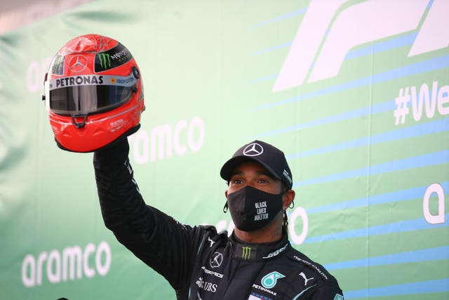 Hamilton claimed the 91st win of his career at the Nurburgring in Germany