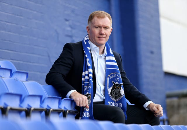 Scholes will be hoping to lift bums off seats at Boundary Park