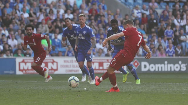 James Milner slots in from the penalty spot