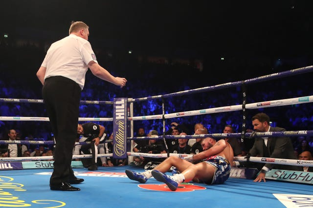 Tony Bellew was devastatingly knocked out in his career swansong (Nick Potts/PA)