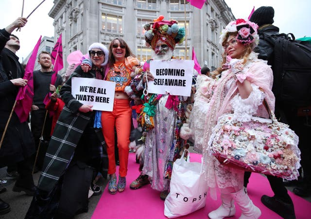Extinction Rebellion's Fashion catwalk