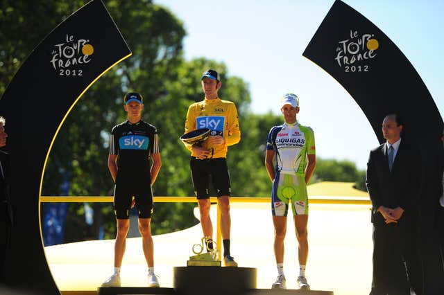 Froome came second as Bradley Wiggins became the first British rider to win the Tour de France in 2012