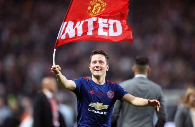Herrera celebrated winning the Europa League with United in 2017