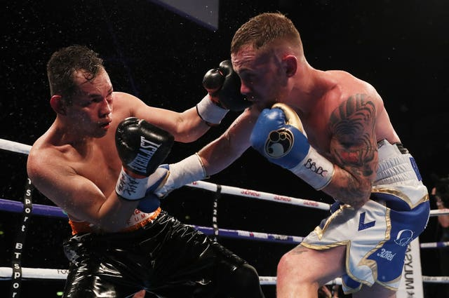 Frampton outpointed Nonito Donaire in April (Brian Lawless/PA).
