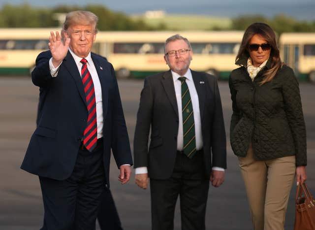 ac55efa8a Donald and Melania Trump are welcomed by Scottish Secretary David Mundell  (Jane Barlow PA)