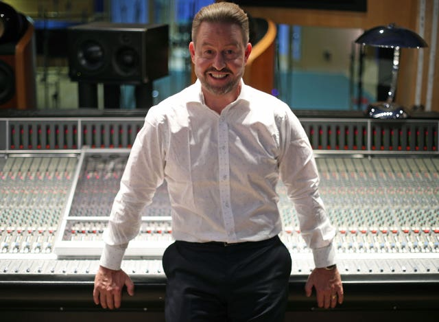Robert Willis, the eldest son of Cilla Black, at Studio Three of Abbey Road Studios, London