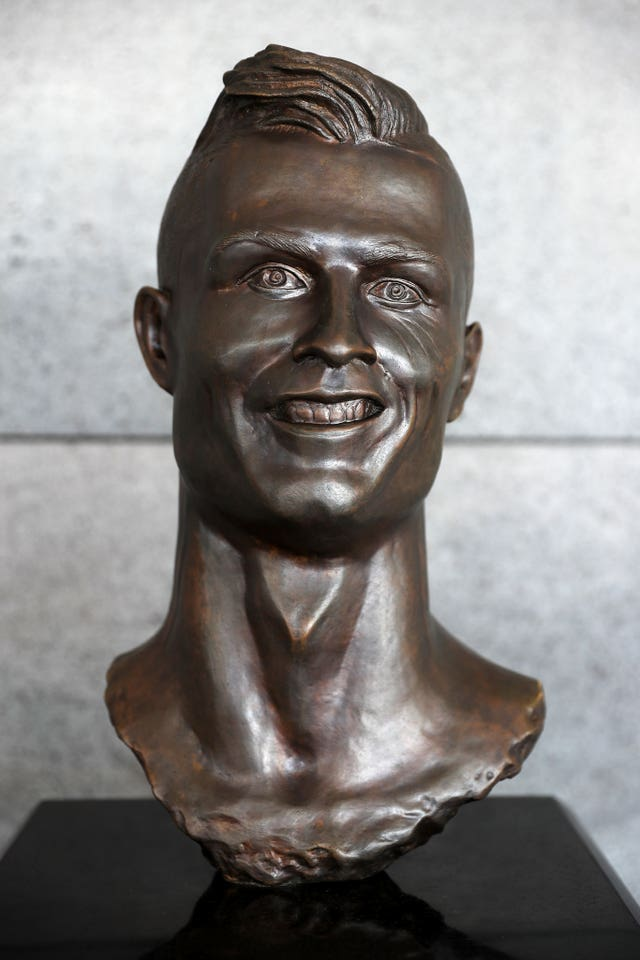 The Cristiano Ronaldo statue in Madeira