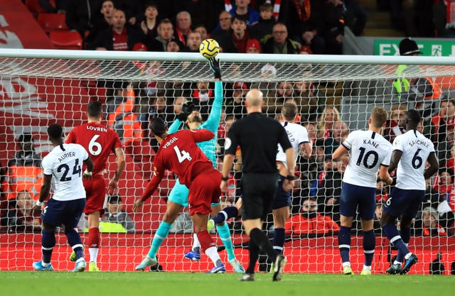 Leaders Liverpool come from behind to beat Tottenham at Anfield