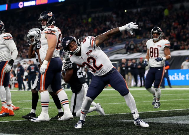 David Montgomery helped the Bears get back into the contest