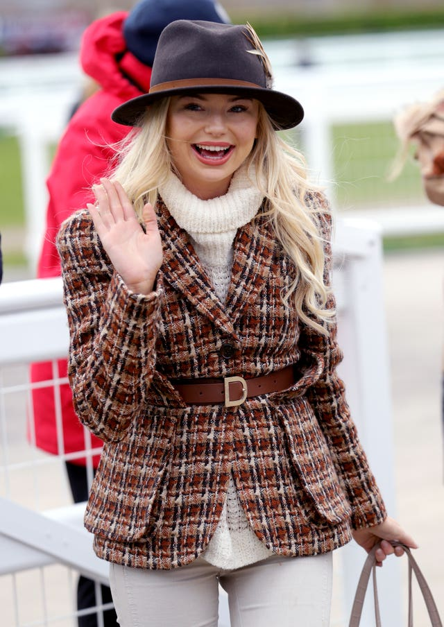 83e1f1f74 In Pictures: Racegoers hold on to their hats at Cheltenham Festival ...