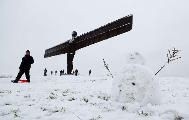 The Angel of the North has weathered many storms in its 20 years