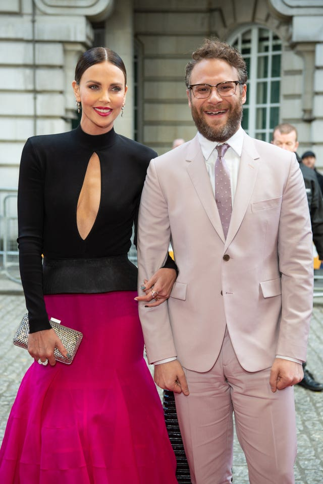 Charlize Theron and Seth Rogen at the Long Shot special screening in London