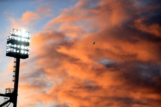 The sky was a picture above Carrow Road