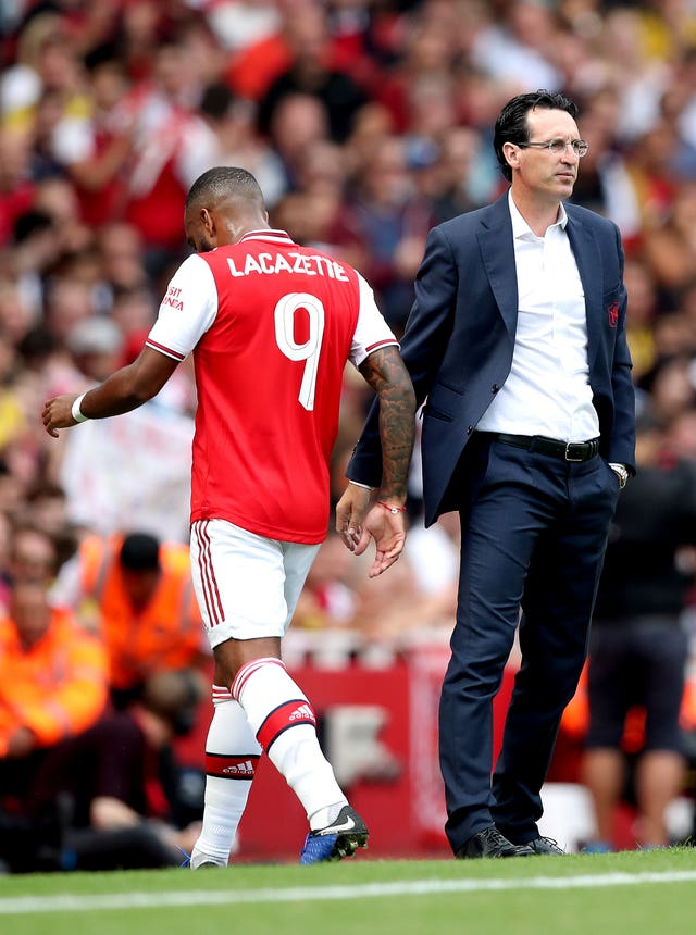 Alexandre Lacazette was taken off early on
