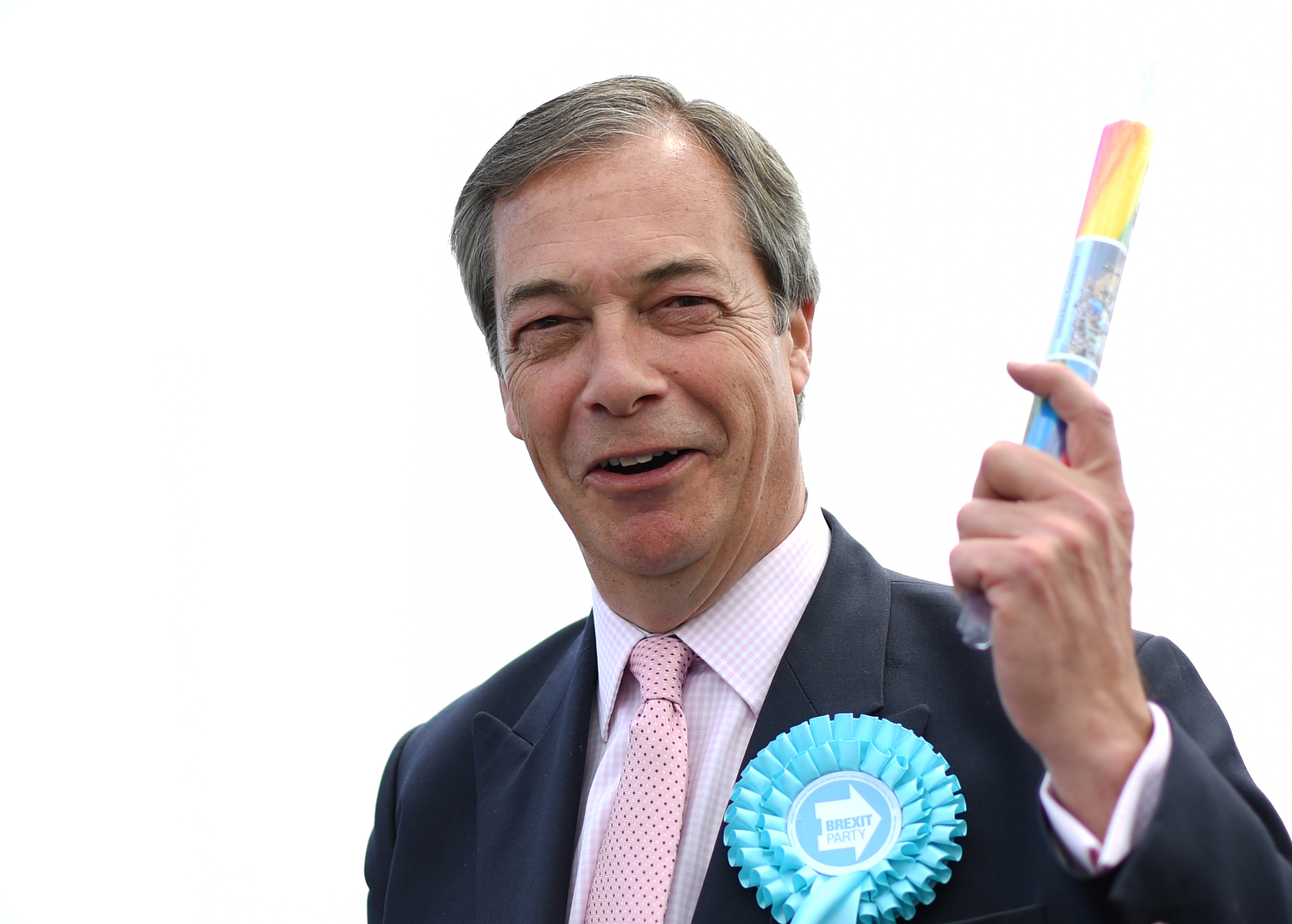 Man charged for throwing milkshake at Brexit Party leader Nigel Farage