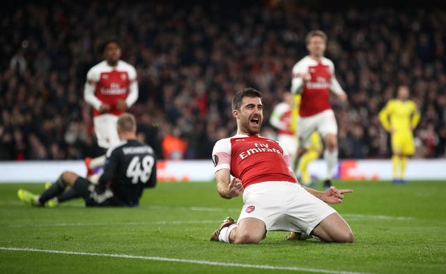 Sokratis wrapped up Arsenal's win over BATE to secure a place in the round of 16.