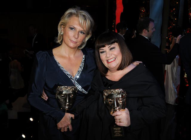 Dawn with friend and comedy collaborator Jennifer Saunders (Ian West/PA)
