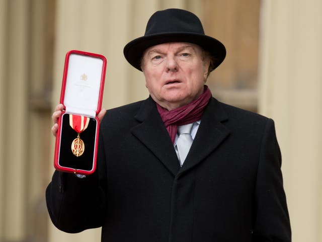 Sir Van Morrison at Buckingham Palace after being knighted by the Prince of Wales