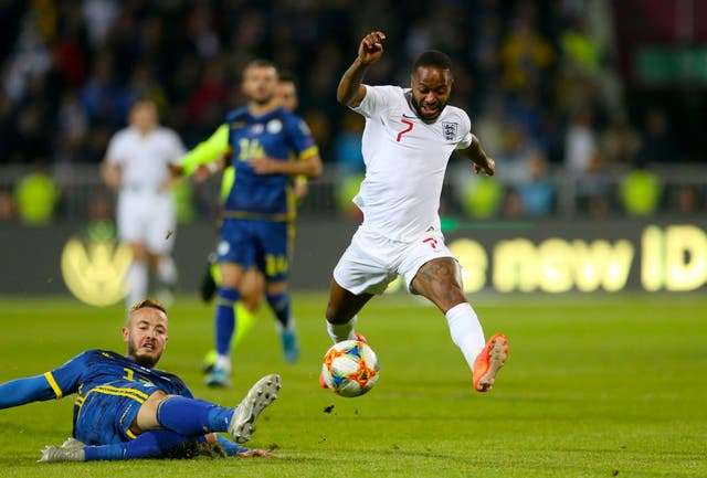 Raheem Sterling returned to England's starting line-up