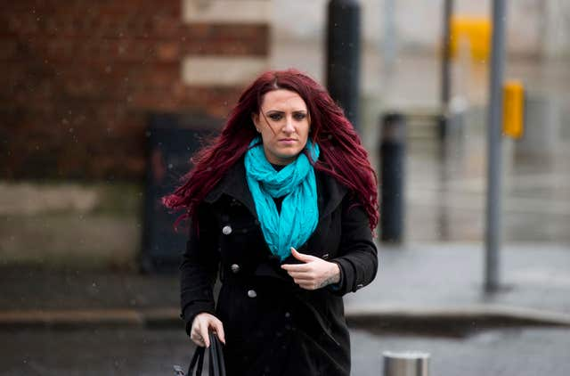 Deputy leader of the far right group Britain First Jayda Fransen (Mark Marlow/PA)